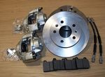 Brake discs, Genuine Calipers, Hoses, Pads with Fitting kit front VW T2 73-79